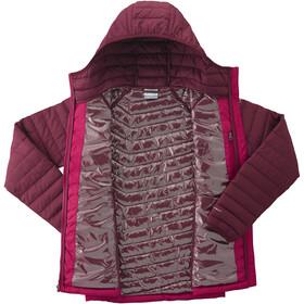 Columbia Powder Lite Hooded Jacket Damen pomegranate/rich wine